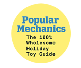 Popular Mechanics Badge for Groovy Lab in a Box subscription box for kids