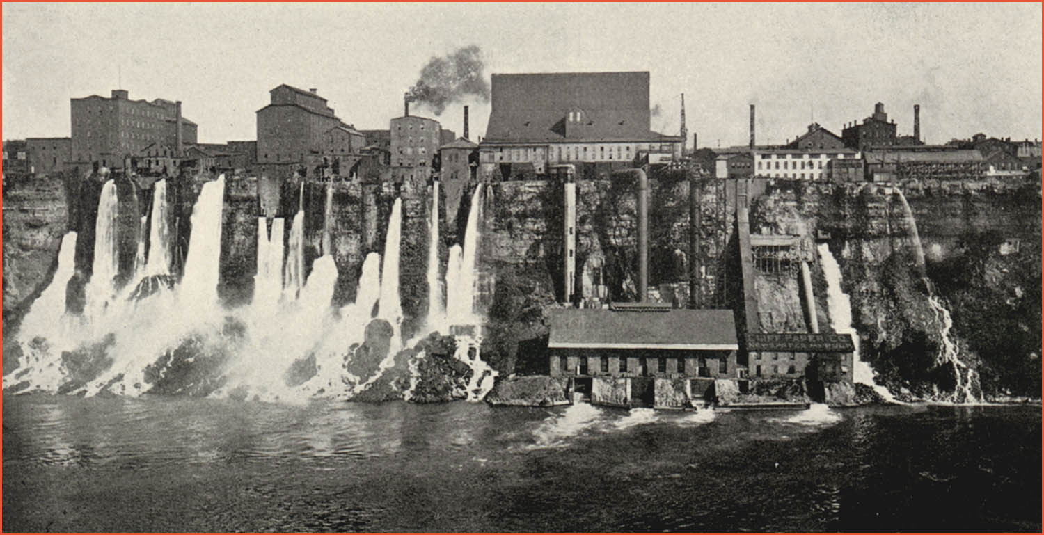 Niagra Falls - first modern electrical power generating plant.
