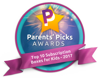 Parents' Picks Awards Badge for Groovy Lab in a Box subscription box for kids
