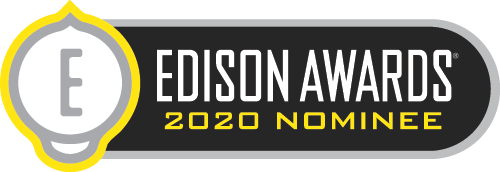 Edison Awards 2020 Nominee Badge for Groovy Lab in a Box subscription box for kids